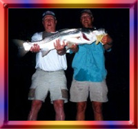 Snook Caught With Captain George Clark, Rodeo Fishing Charters